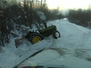 stuck tractor