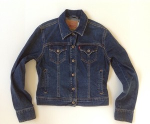 This vintage Levi's jacket is in near-new condition and is selling for $22.